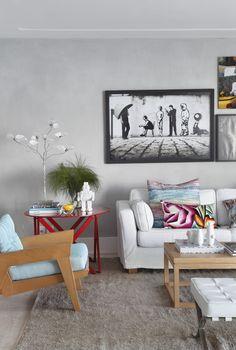 Linda a sala da arquiteta Gisele Taranto - Apartamento Spike - www.giseletaranto.com