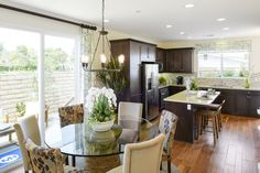 Residence One - Kitchen and Dining Room Palmilla by Melia Homes #MeliaHomes #CostaMesa #NewHome