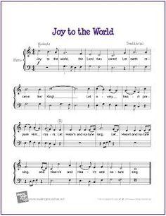 Joy to the World (Christmas) | Free Sheet Music for Easy Piano - http://makingmusicfun.net/htm/f_printit_free_printable_sheet_music/joy-to-the-world-piano.htm