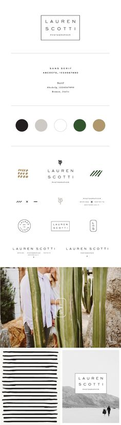 Brand Identity for Lauren Scotti Photographer by Saturday Studio / graphic design inspiration / logo / branding board Web Design, Layout Design, Design Logo, Website Design, Brand Identity Design, Graphic Design Branding, Corporate Design, Brand Design, Corporate Style