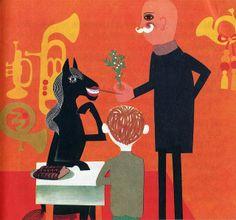 Malá vánoční povídka children's book illustrated by Hana Štěpánová 1966 Restaurant Themes, Food Illustrations, Prague, Childrens Books, Kids Rugs, Painting, Vintage, Google Search, Recipes