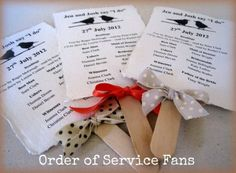 DIY Tutorial: Order of Service Fans