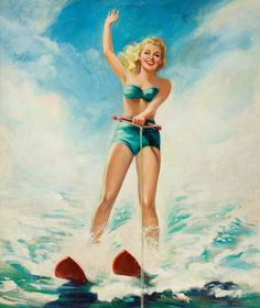 HOWARD CONNOLLY Pin-Up Water Skiing by Fred Seibert, via Flickr