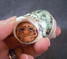 Polymer+Clay+Art+Dolls | OOaK Polymer Clay Hermit Art Doll Fairy Sculpture | dolls