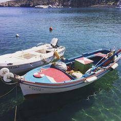 Boats in the harbour , Kimolis island