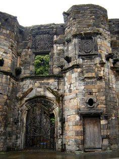 Near Stirling, Scotland - Castle Mar's Wark ruins, built 1569.