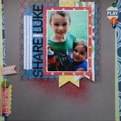 pinterest scrapbook layouts for boys | boys scrapbooking layout