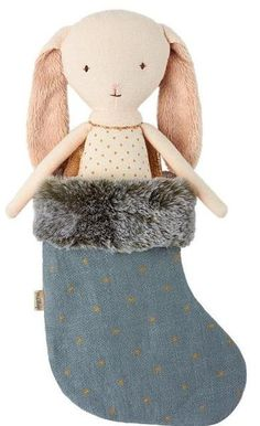 Maileg Bunny Angel with Blue Stocking Holiday Gift Guide, Holiday Gifts, Maileg Bunny, Blue Stockings, Treasure Island, Whimsical, Angel, Ornaments, Toys