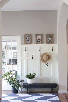faux board and batten in entryway