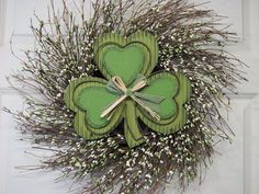 St Patrick's Day Wreath Berry Primitive Wreath by Designawreath, $46.95