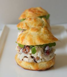 Chicken salad with cranberries and pecans...personally i would have to go with tuna