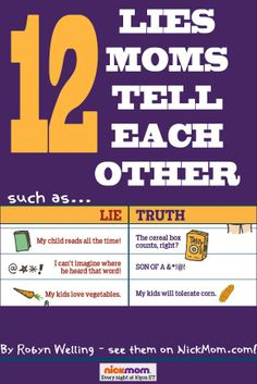 12 lies all moms tell each other - and what they REALLY mean. So funny!