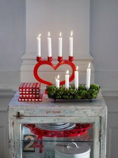 Adventsljusstake - Swedish Christmas Candleholder, light one new candle for each Sunday in advent (as a countdown), creating the stairstep look. Description from pinterest.com. I searched for this on bing.com/images