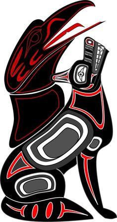 Arte Inuit, Arte Haida, Haida Art, Inuit Art, Native American Symbols, Native American Design, Native Design, Native American Indians, Native Tattoos