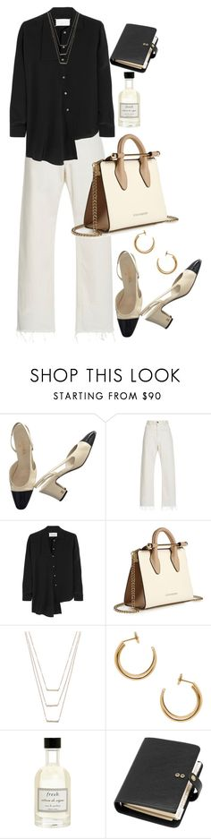 """""""Untitled #11551"""" by nikka-phillips ❤ liked on Polyvore featuring Chanel, Rachel Comey, Maison Margiela, Strathberry, ERTH, Fresh and Mulberry"""