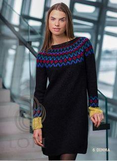 - Icelandic Dimma Women Wool Dress Black - Tailor Made - Nordic Store Icelandic Wool Sweaters  - 1