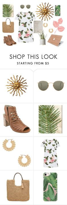 """Trend Watch: Woodland Wildflowers"" by bncollege on Polyvore featuring Ray-Ban, Earthies, Oliver Gal Artist Co., Auden, MANGO, John Lewis, Casetify and earthy"