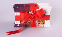 wrap your chocri chocolate bar with a red bow