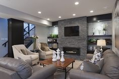 7 Exquisite Tips AND Tricks: Small Living Room Remodel Cabinets small living room remodel on a budget.Living Room Remodel On A Budget Unfinished Basements small living room remodel cabinets.Small Living Room Remodel Mobile Homes. Basement Living Rooms, Modern Basement, Basement House, Living Room Remodel, Basement Bathroom, Basement Walls, Rustic Basement, Industrial Basement, Cozy Basement