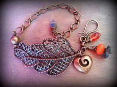 Boho bracelet Hippie bracelet  Bohemian jewelry Rustic by FiArt, $28.00