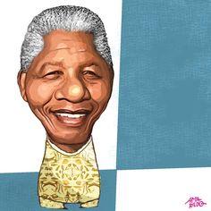 Nelson Mandela – Caricatura