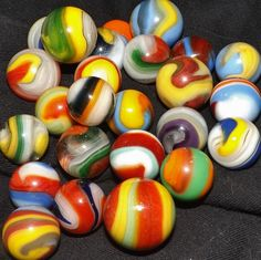 Collection of Akro Agate marbles Marble Toys, Marble Games, Marbles Images, Marble Pictures, Marble Board, Glass Marbles, Glass Ball, Lost & Found, Glass Ornaments