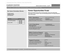 Career Portal Wireframe