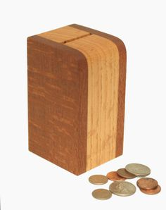 Wooden Bank of Lacewood and Oak. $20.00, via Etsy.