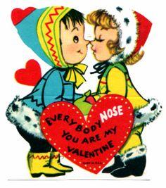 Eskimo kiss Valentine card