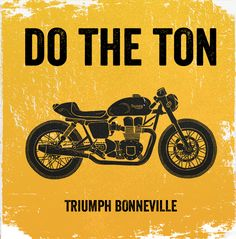 Do the ton - Cafe racers - a series of illustrations.