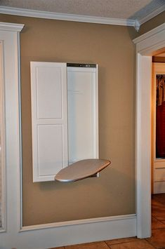 Best Wall Mounted Ironing Boards: Fold Down/Built-In Cabinets 2018 Laundry Room Doors, Laundry Room Remodel, Laundry Room Organization, Laundry Room Design, Basement Laundry, Laundry Closet, Bathroom Closet, Small Laundry, Closet Bedroom