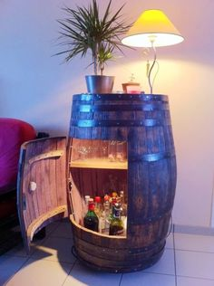 WIne barrel wet bar