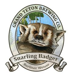 Review of Grand Teton's Snarling Badger Berliner Weise beer