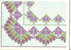 Needlepoint Patterns, Counted Cross Stitch Patterns, Cross Stitch Designs, Cross Stitch Embroidery, Embroidery Patterns, Hand Embroidery, Broderie Bargello, Huck Towels, Swedish Weaving Patterns