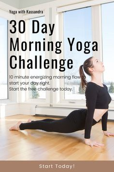 Join our free 30 day morning yoga challenge and see what just 10 minutes of yoga a day can do for you. Designed to help you improve flexibility, mobility, calm, and strength, you'll get a new 10 minute quick yoga class delivered to your inbox every morning. If you want more, energy in the morning, focus & productivity at work, improved health & vitality, relief from tired, achy muscles, Increased strength & flexibility, and lower stress levels, this is the challenge for you. Morning Yoga Flow, Morning Yoga Routine, Flexibility Routine, Yoga For Flexibility, Become A Yoga Instructor, Yin Yoga Sequence, Yoga Movement, Yoga For Stress Relief, Online Yoga Classes