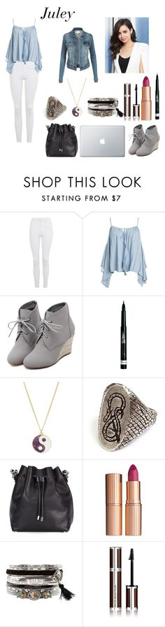 """""""the best frind - Juley"""" by aninha-gpassis ❤ liked on Polyvore featuring Topshop, Sans Souci, WithChic, Rimmel, Accessorize, Proenza Schouler, Charlotte Tilbury, New Look and Givenchy"""