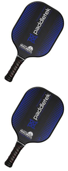 Other Tennis and Racquet Sports 159135: New Paddletek Pickleball Paddle 2017 Us Open Tempest Wave Special Edition Blue -> BUY IT NOW ONLY: $110 on eBay!