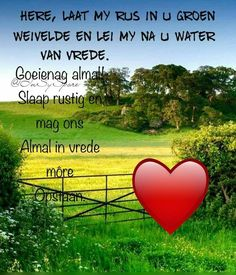 Evening Quotes, Afrikaanse Quotes, Goeie Nag, Goeie More, Good Night Sweet Dreams, Morning Prayers, Bible Verses Quotes, Poems, African Fashion