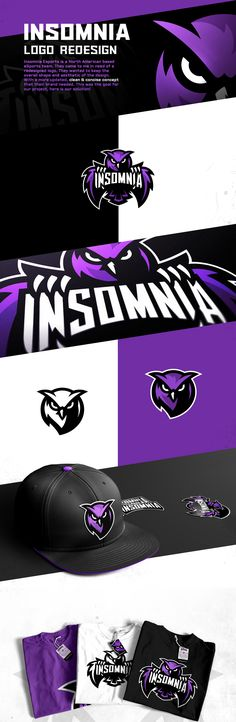 Insomnia Esports Mascot Logo on Behance