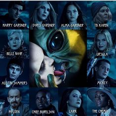 Madonna 90s, Which Character Are You, Character Portraits, Ahs, Ursula, American Horror Story, Horror Stories, Movie Posters, Fictional Characters