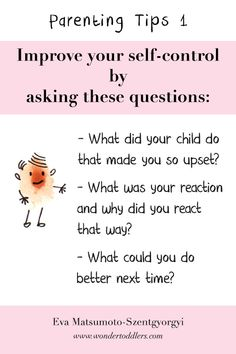 A the beginning of my teaching career, I often lost my temper and then felt extremely guilty about it...  So, I came up with my own tactics to stay calm and I tried to change my behaviour by simply answering the questions below on the image.  I wrote a blog post about it and recorded a video on this topic if you are interested just click on the image.  #parentingtips #parenting #motherhood #fatherhood #wondertoddlers #toddlers #eyfs #nursery #earlyyears