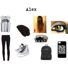 Alex's Outfit by daydreamer671 on Polyvore featuring Ksubi, Vince, Converse, JanSport, Alexander McQueen and Tarnish