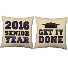 Custom Senior Year Motivation for Graduation Throw Pillows - Set of 2