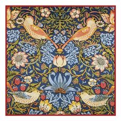 Strawberry Thief by William Morris, 1883 England The original was a woven tapestry. William Morris It's. William Morris Wallpaper, Morris Wallpapers, Arts And Crafts Movement, Tapestry Design, Textile Design, Floral Design, Textiles, Modern Prints, Art Prints