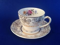 A personal favorite from my Etsy shop https://www.etsy.com/ca/listing/549232806/alfred-meakin-golden-posy-teacup-and