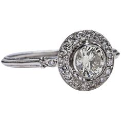 .51 Carat Diamond Platinum Ring | See more rare vintage Engagement Rings at https://www.1stdibs.com/jewelry/rings/engagement-rings