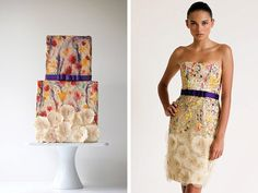 Fashion Inspired Cakes - Belle the Magazine . The Wedding Blog For The Sophisticated Bride # wedding #cake