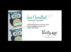 Thirty-One Business Card  Hoo's Happy by luchi on Etsy