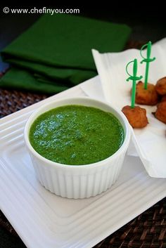 Coriander Chutney Recipe    Cilantro Chutney Recipe   Indian Chutney Recipes