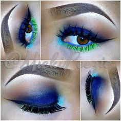 Blue and green eye shadow